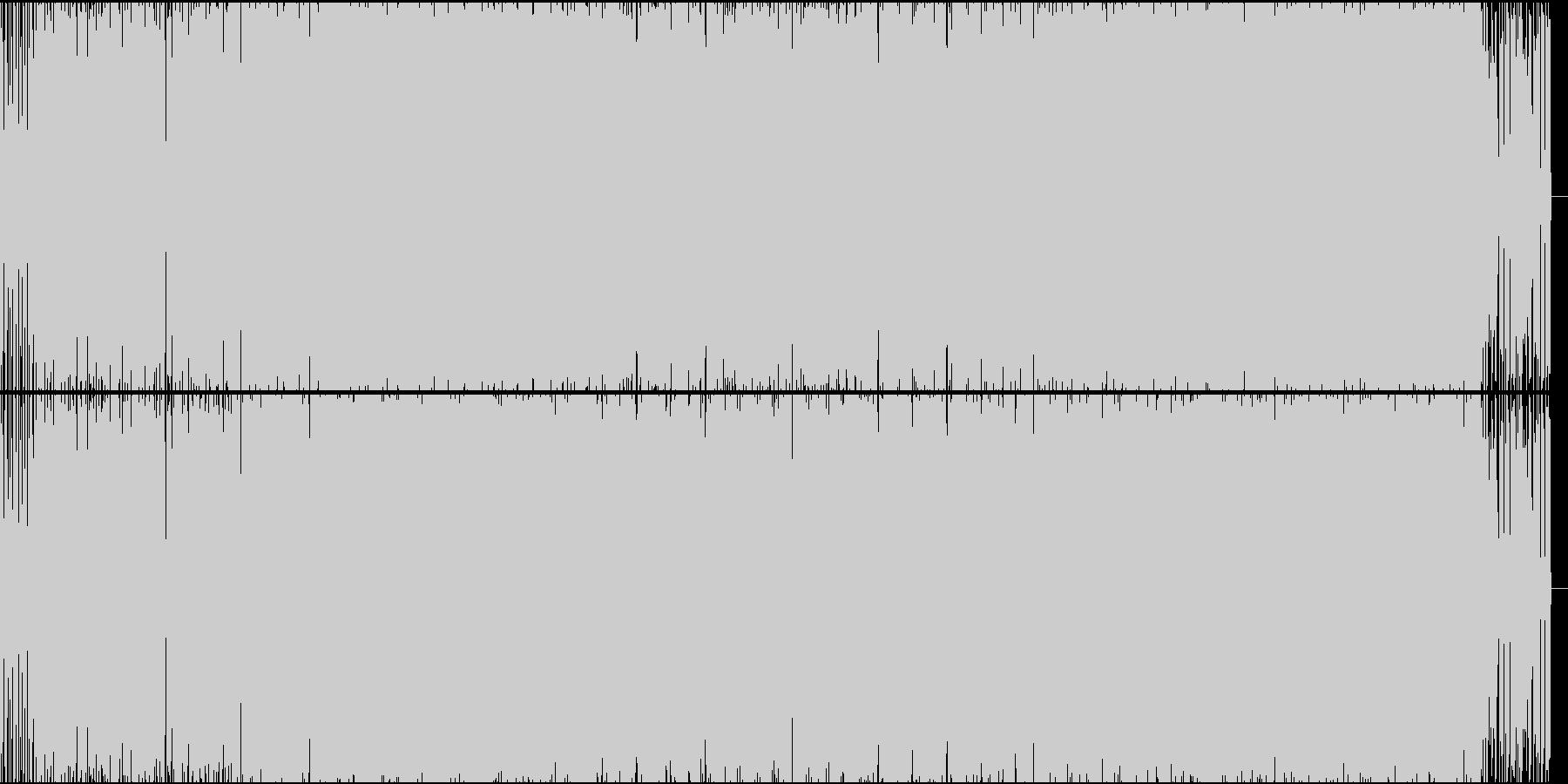テンポの良い疾走感のあるビートの未再生の波形