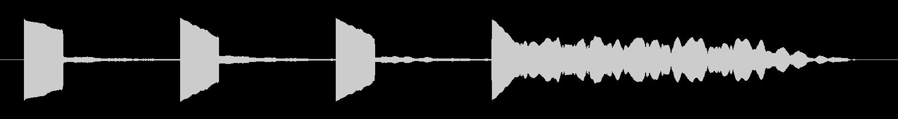 カウントダウン効果音 プップップップーの未再生の波形