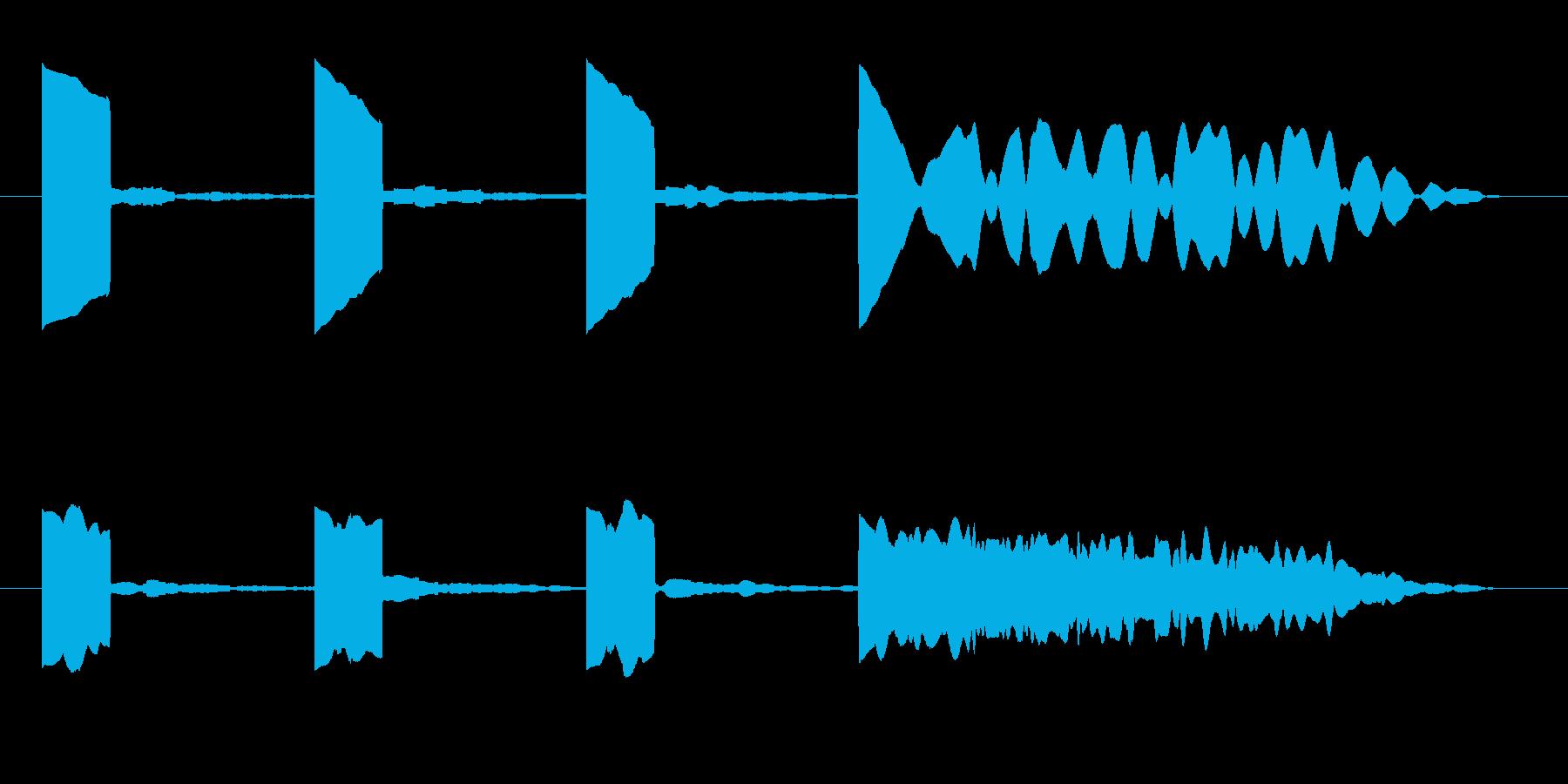 カウントダウン効果音 プップップップーの再生済みの波形