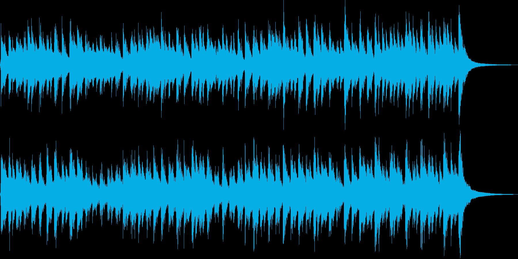 子供向けのコミカルなオルゴールジングルの再生済みの波形