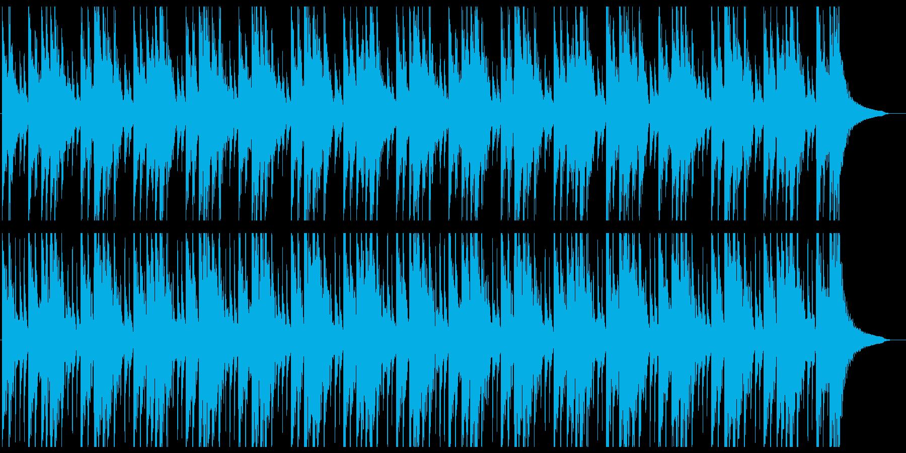 和太鼓を叩いているBGMロングの再生済みの波形