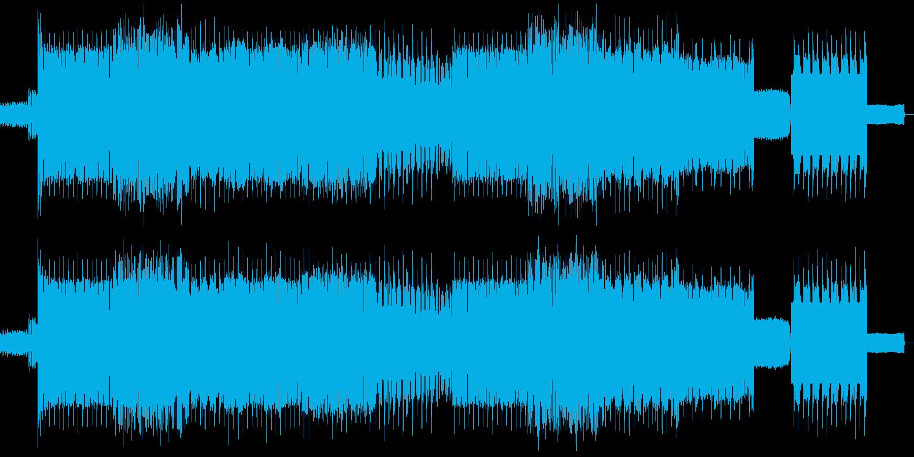 明るいハードダンステクノの再生済みの波形