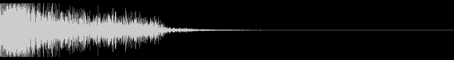 ビックリ音02(ジャン!)の未再生の波形