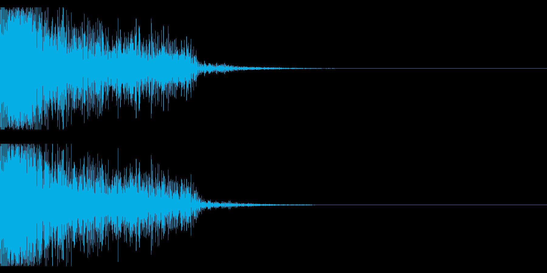 ビックリ音02(ジャン!)の再生済みの波形
