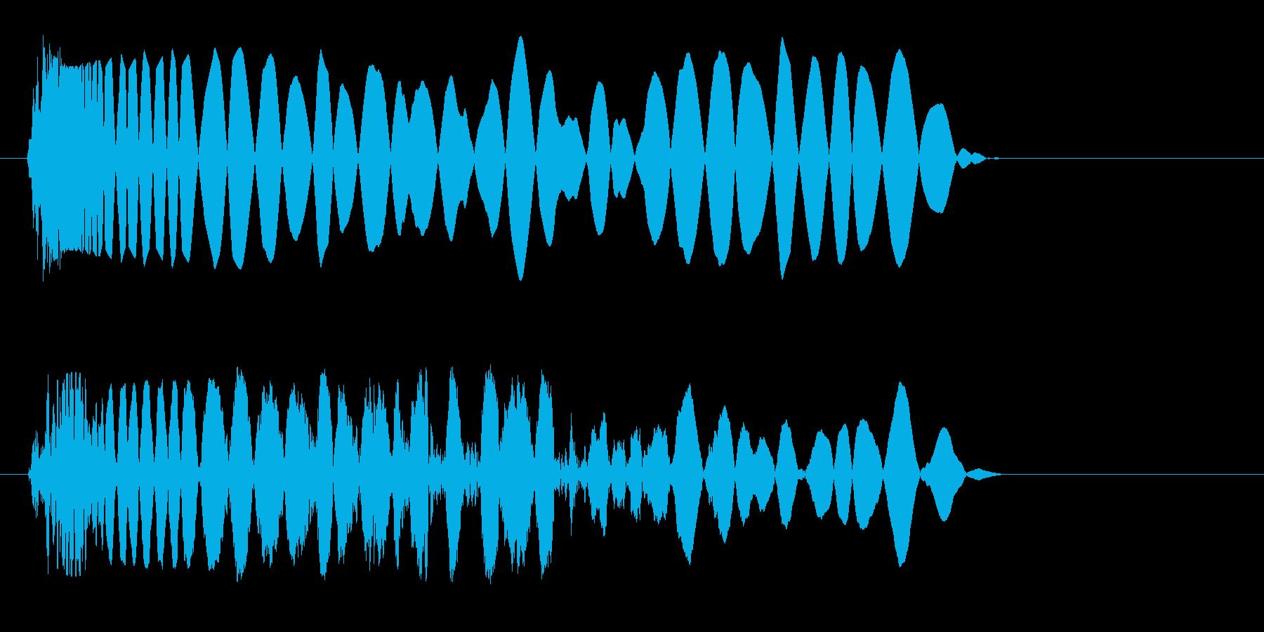 ドン(上から叩きつける音)の再生済みの波形