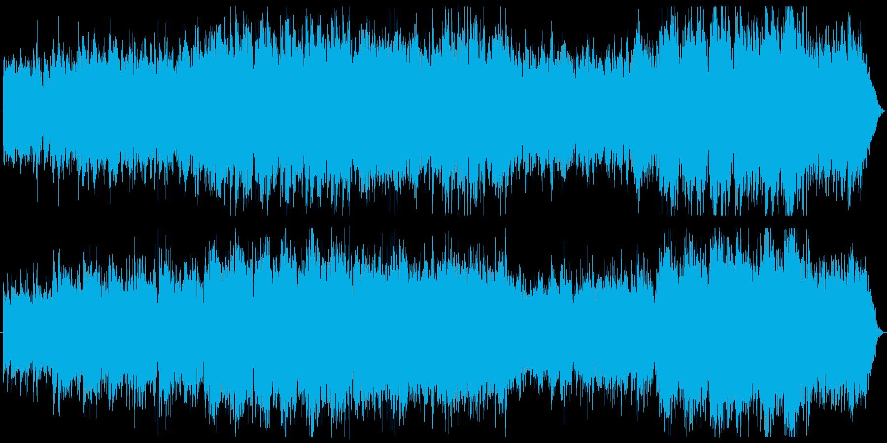 疾走感 幻想的 広大 エレピとアコギの再生済みの波形