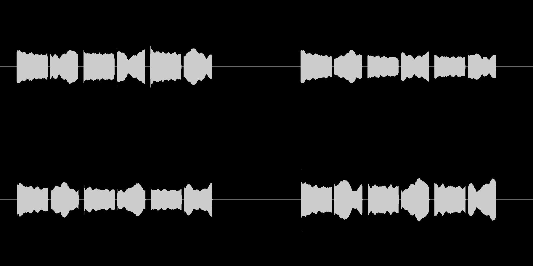 体温計 タイマー 電子音 ピコピコピコの未再生の波形