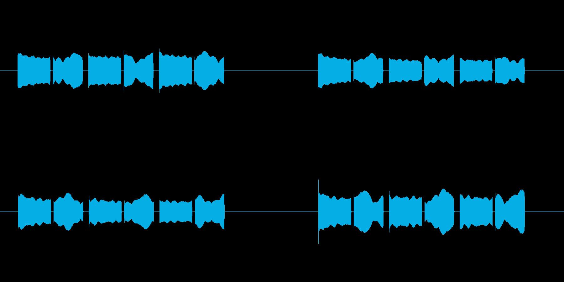 体温計 タイマー 電子音 ピコピコピコの再生済みの波形