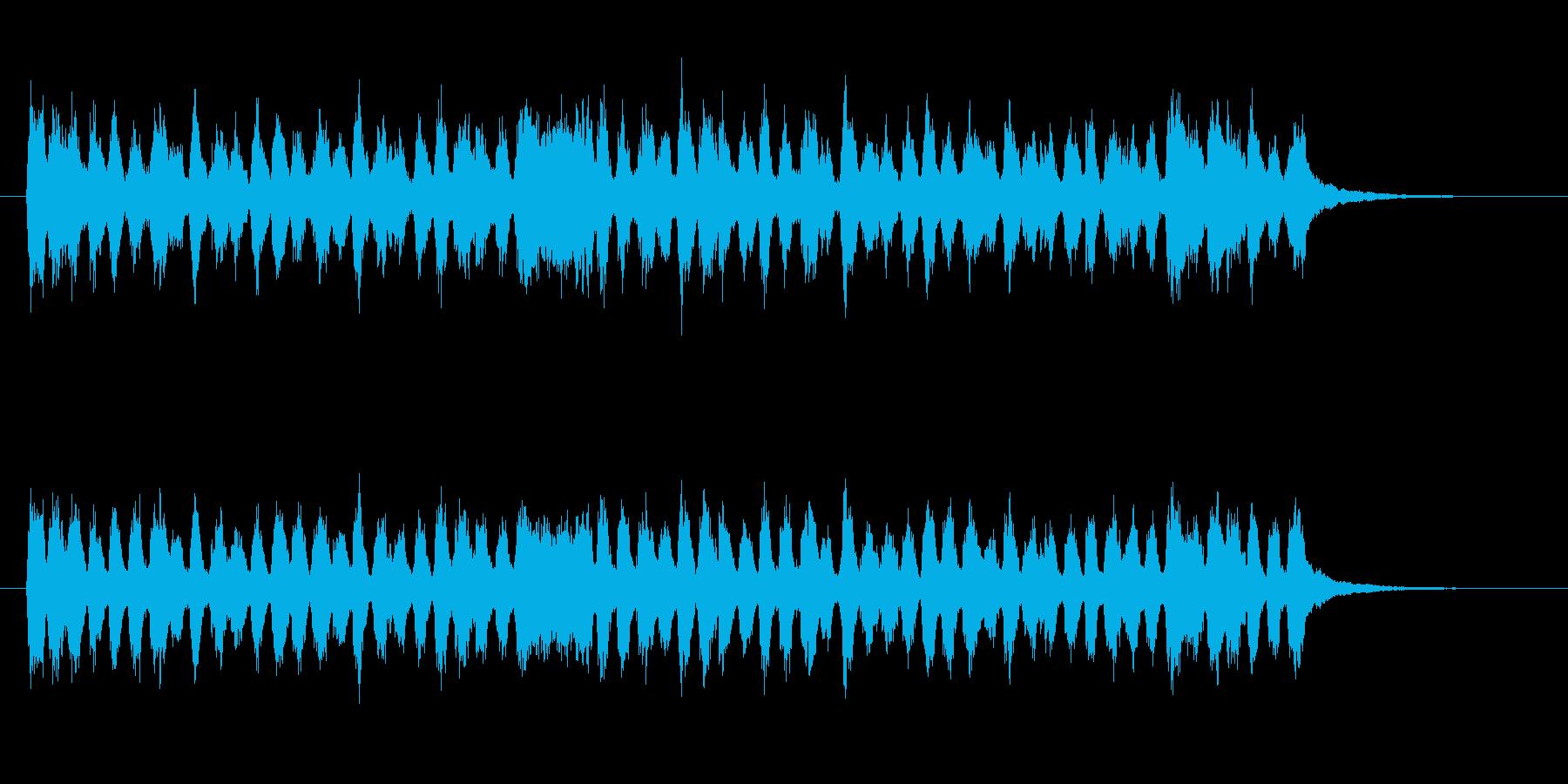軽やかなクラシック感のシンセサウンドの再生済みの波形