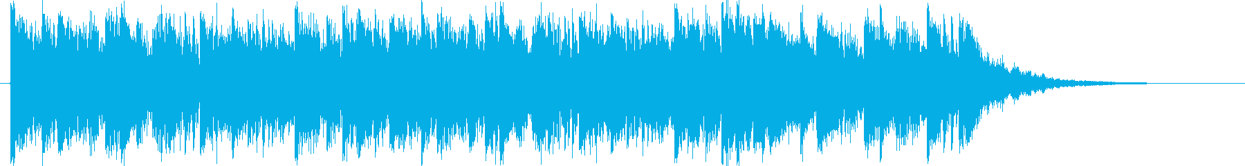 ロック、オーケストラ、リズムの融合ロゴの再生済みの波形