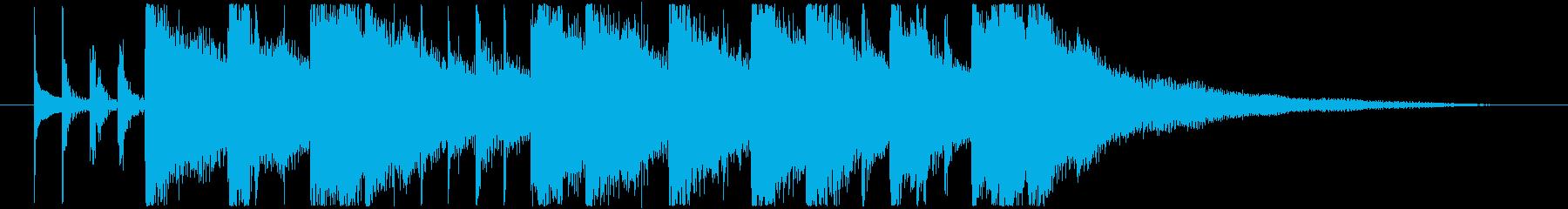シタールによるインド風妖艶なロゴBの再生済みの波形
