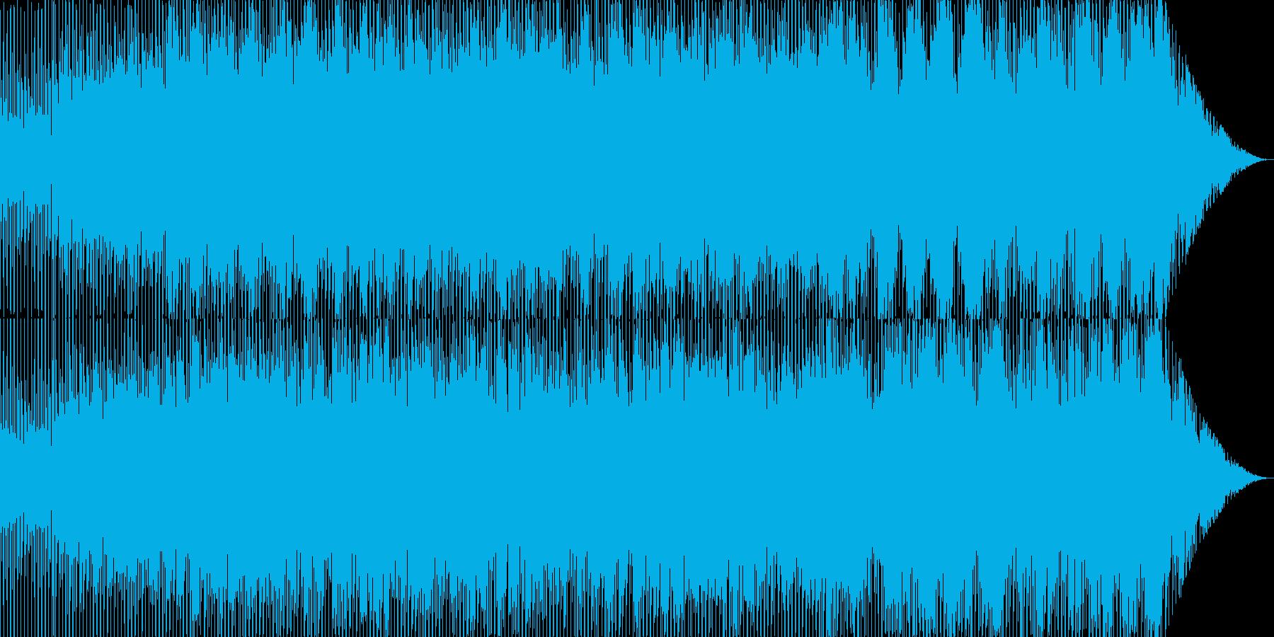 明るいシンセリフが印象的なトランス風楽曲の再生済みの波形