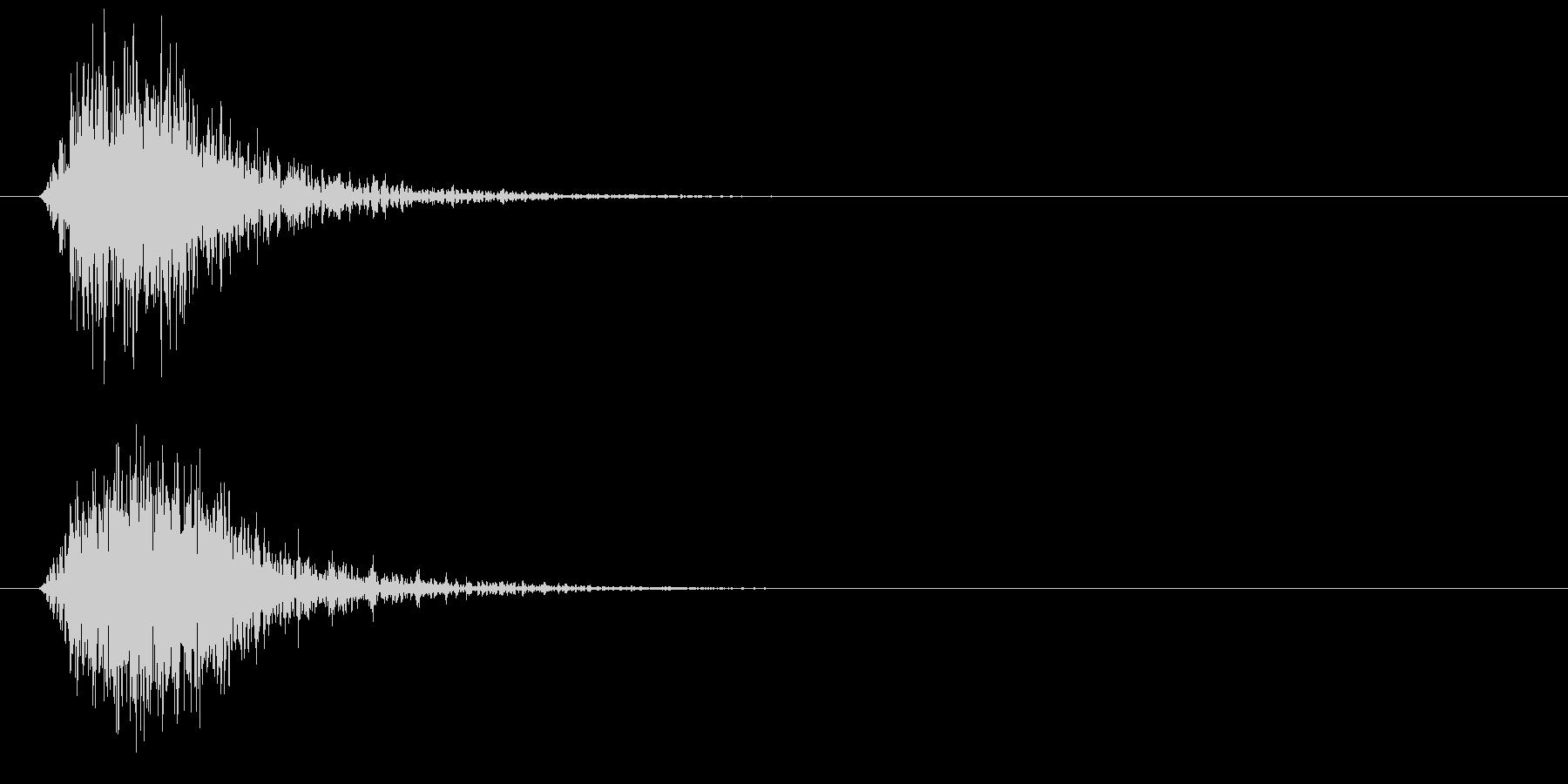 ヒュン、シュン、素振りのような風切り音の未再生の波形
