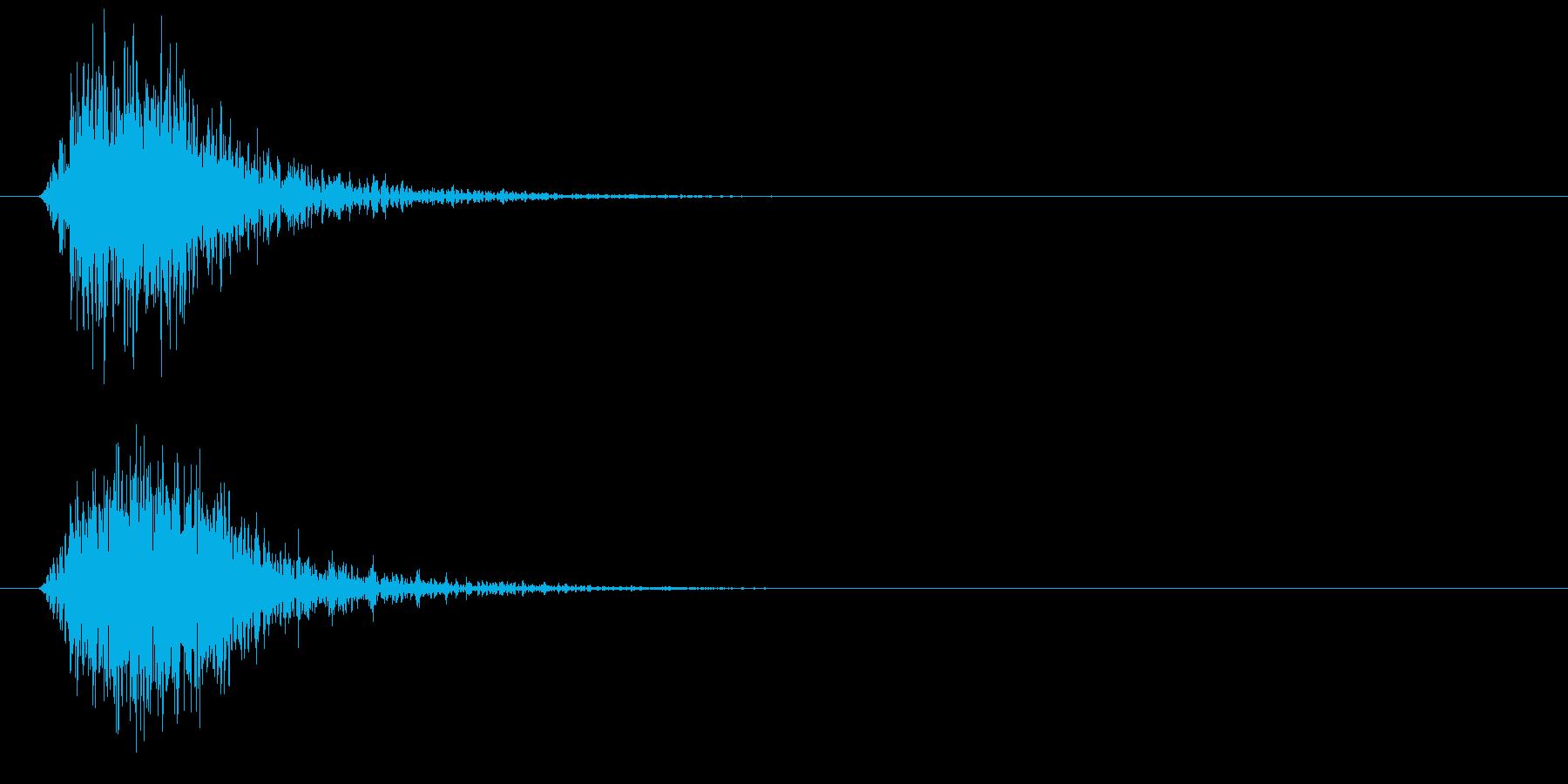 ヒュン、シュン、素振りのような風切り音の再生済みの波形