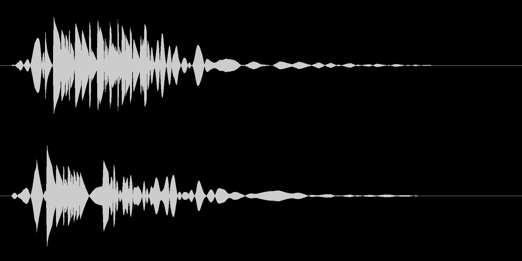 ボッという短い蒸気の音の未再生の波形