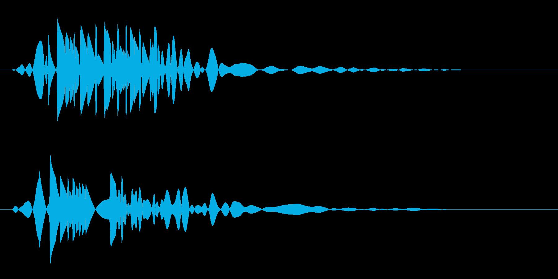 ボッという短い蒸気の音の再生済みの波形