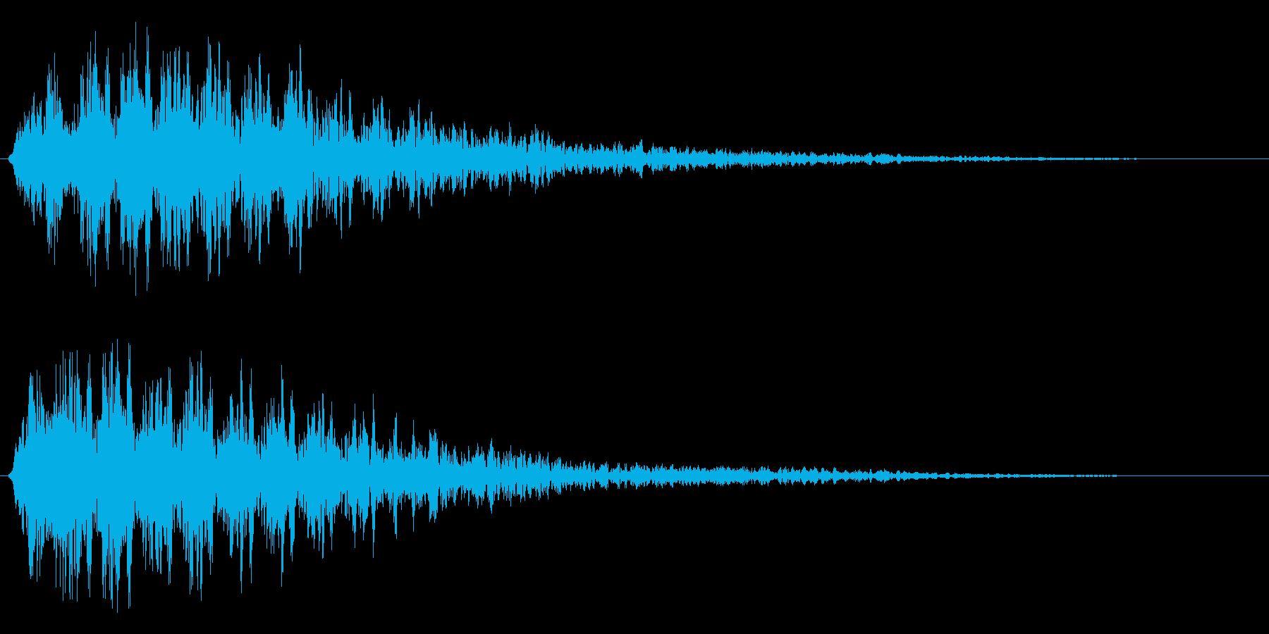 レーザービーム発射(突き抜ける高音)の再生済みの波形