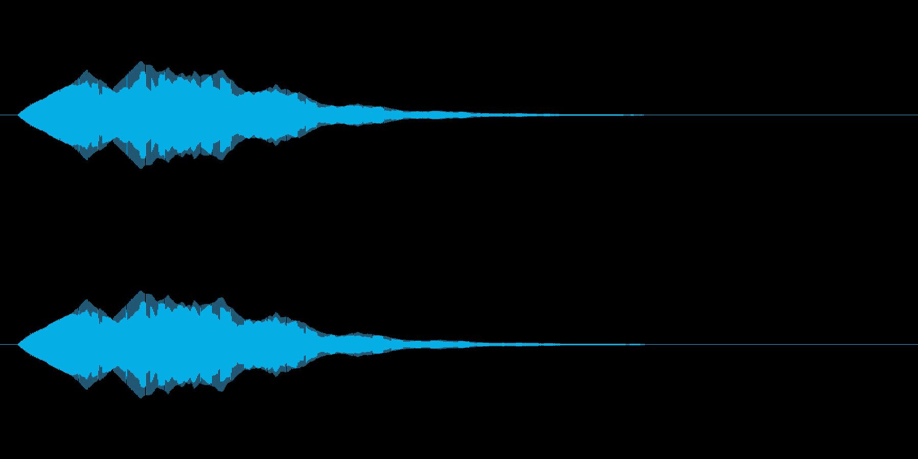 シンプルな電子音・アイキャッチ1の再生済みの波形
