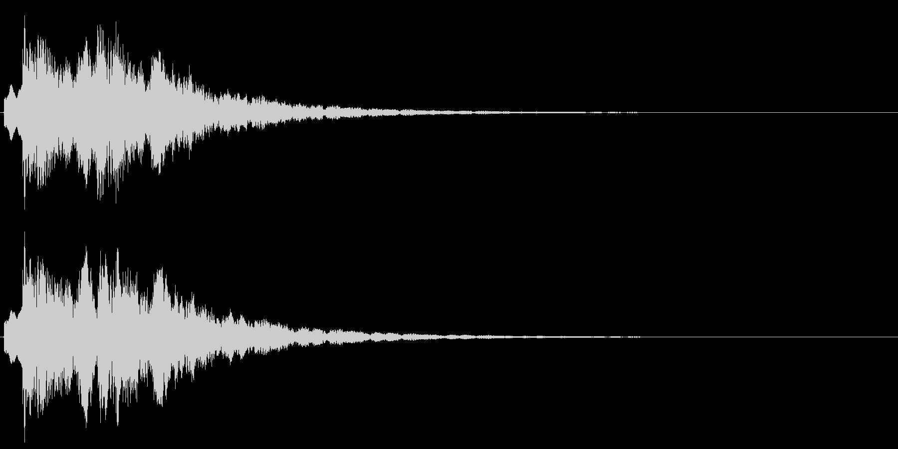 魔法を意識した短いシーン効果音です。の未再生の波形