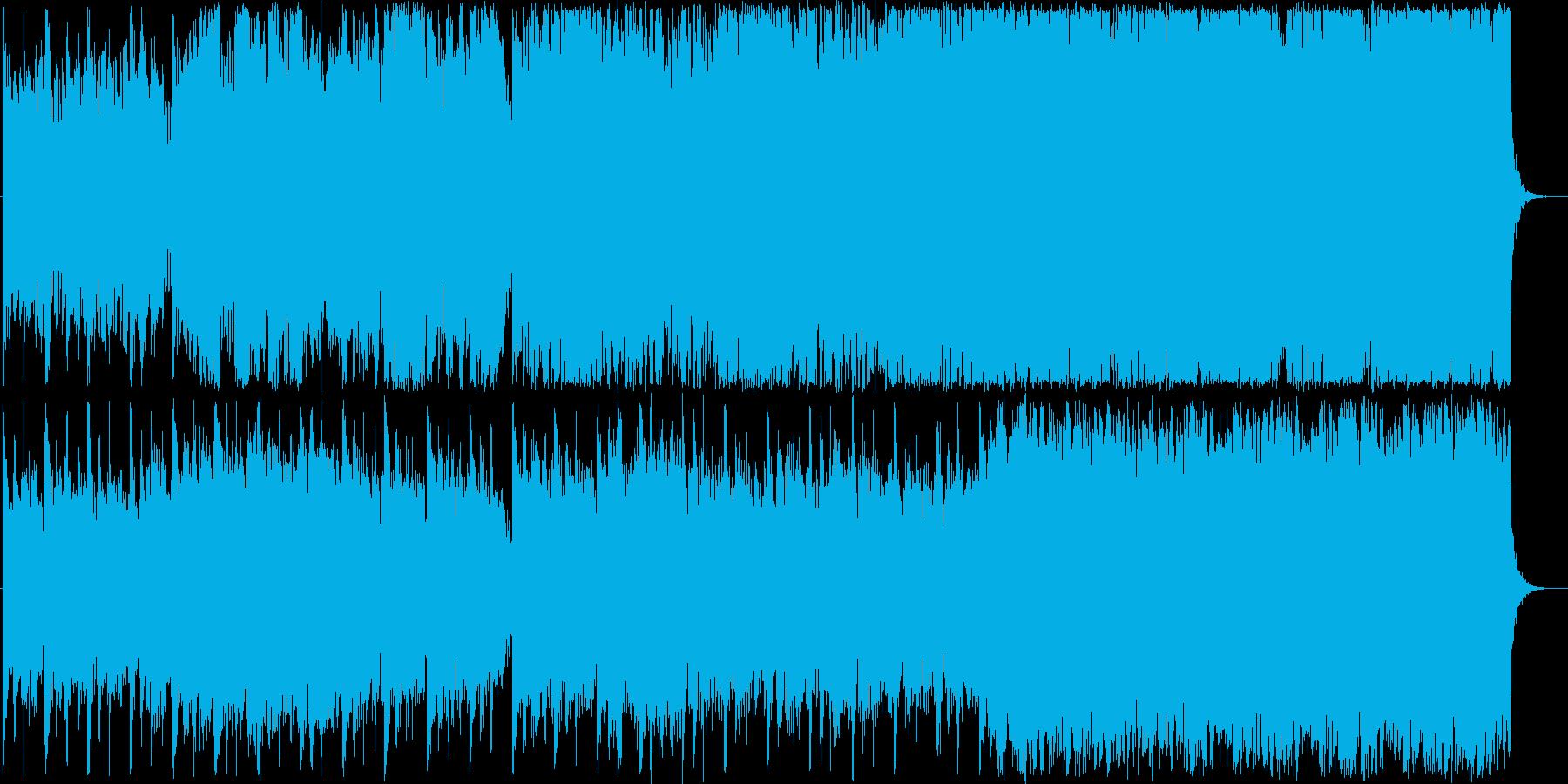 和風幻想曲でゆっくりした哀愁のある曲の再生済みの波形