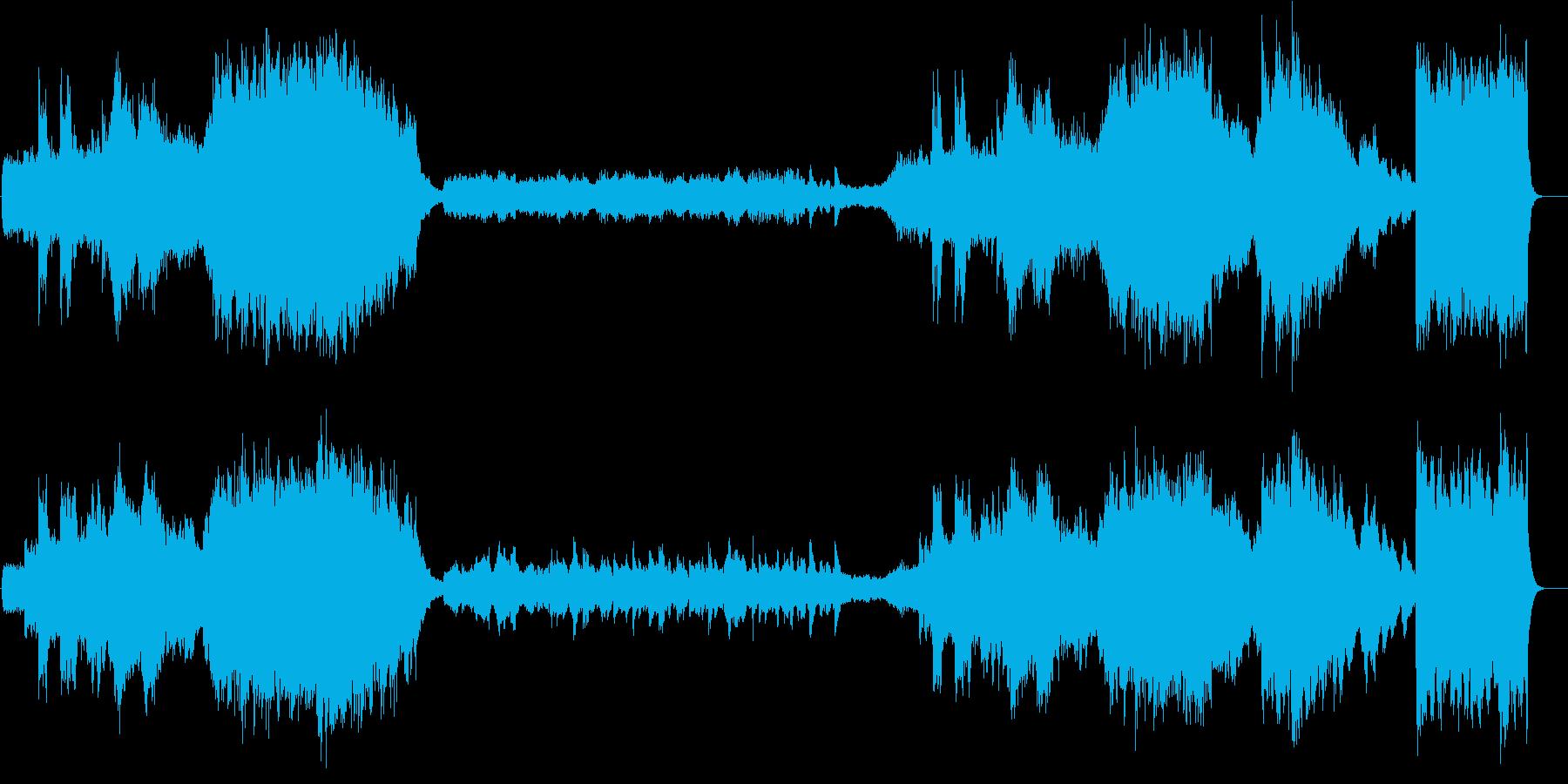映画音楽風組曲展開、ロマンメインタイトルの再生済みの波形