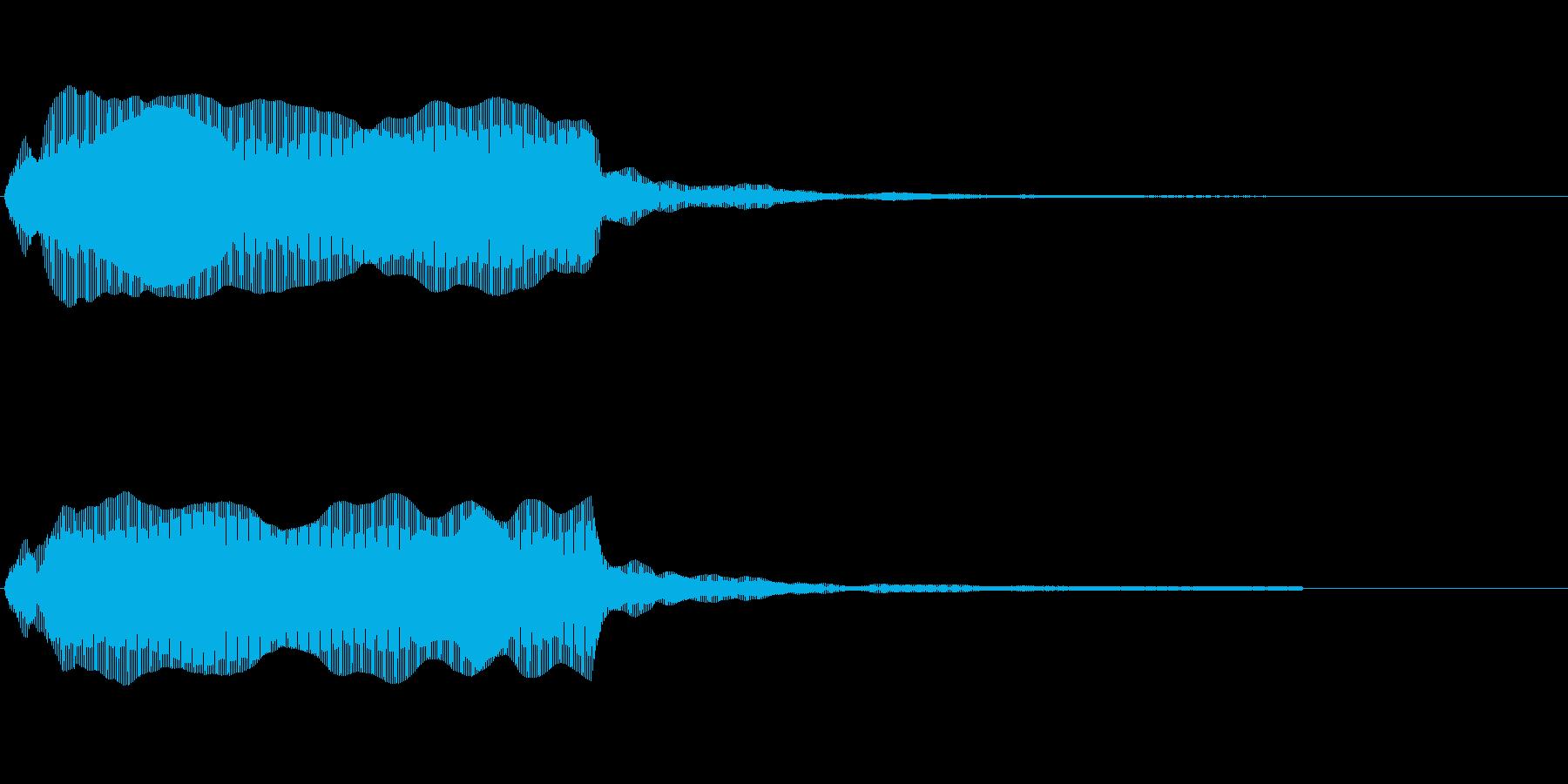 大型船が出発のときに鳴らす汽笛のような音の再生済みの波形