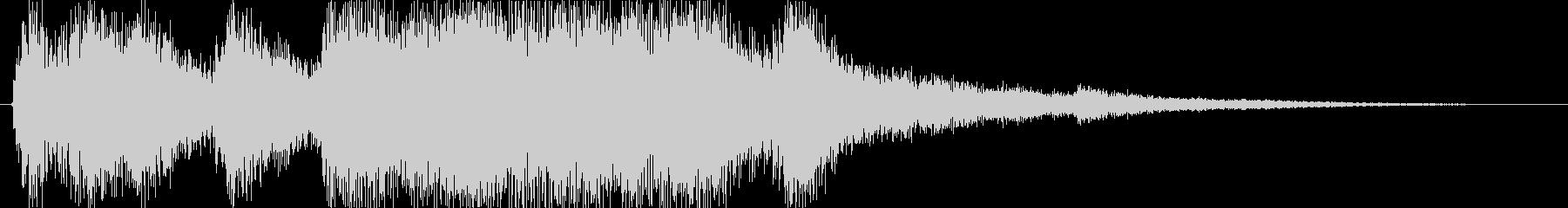 クラシックなイベント達成音ジングル4の未再生の波形