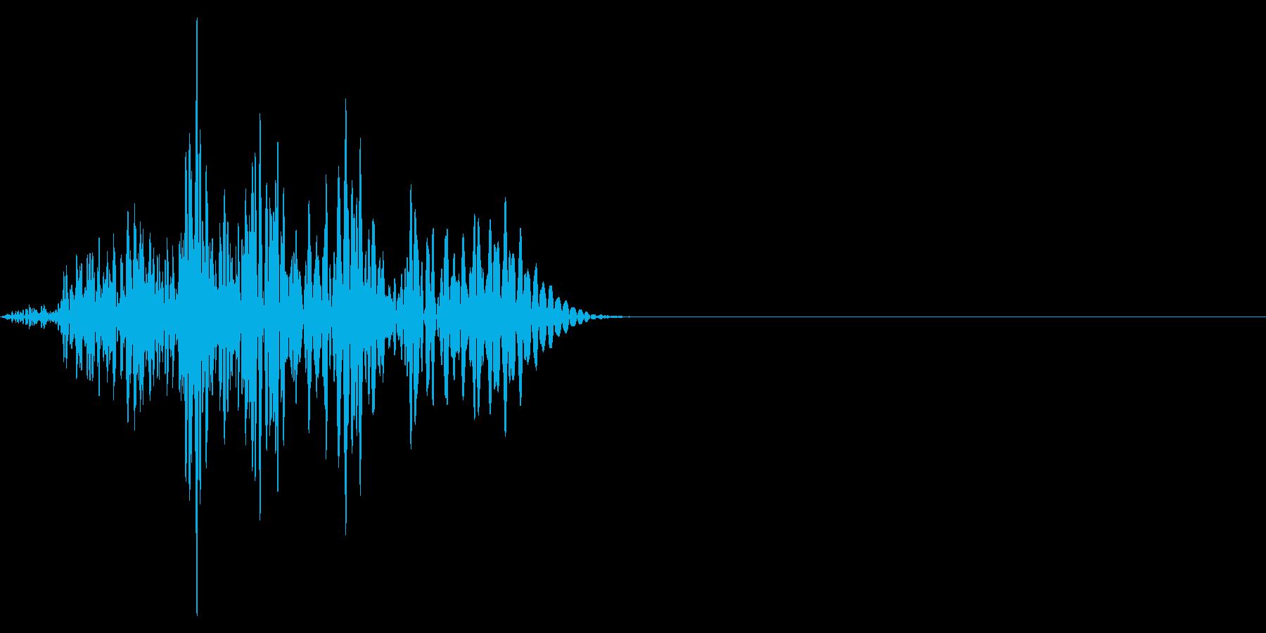 ゲーム掛け声ゾンビ1オオ?2の再生済みの波形