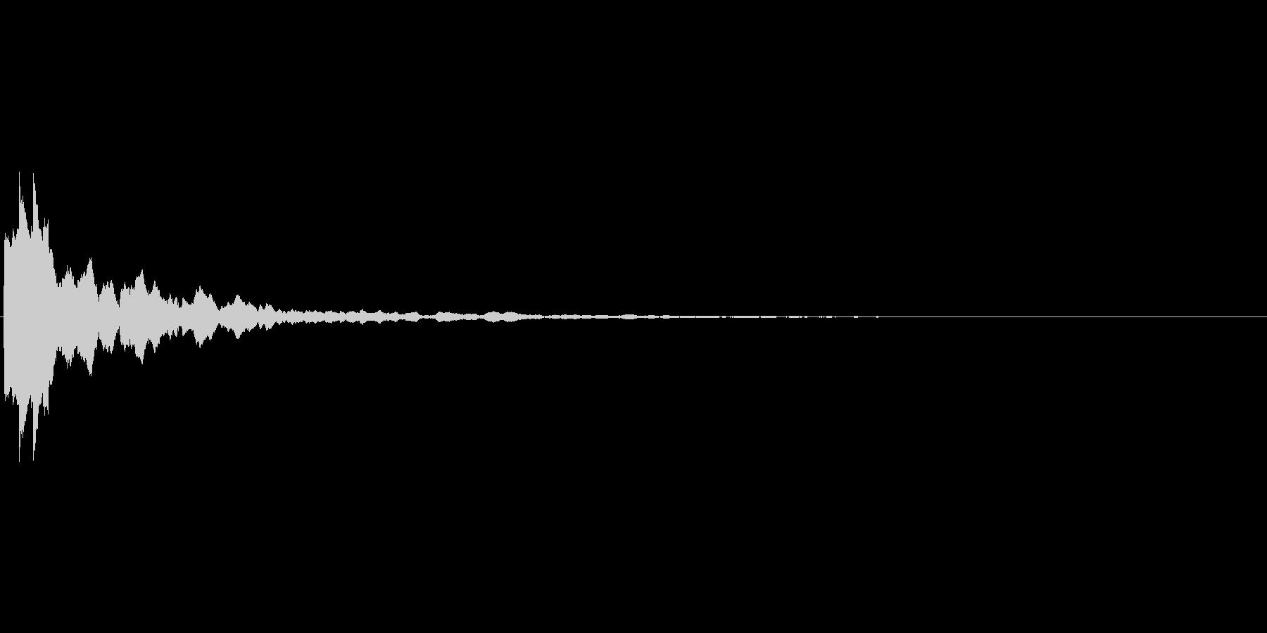UI,操作画面でのSE効果音の未再生の波形