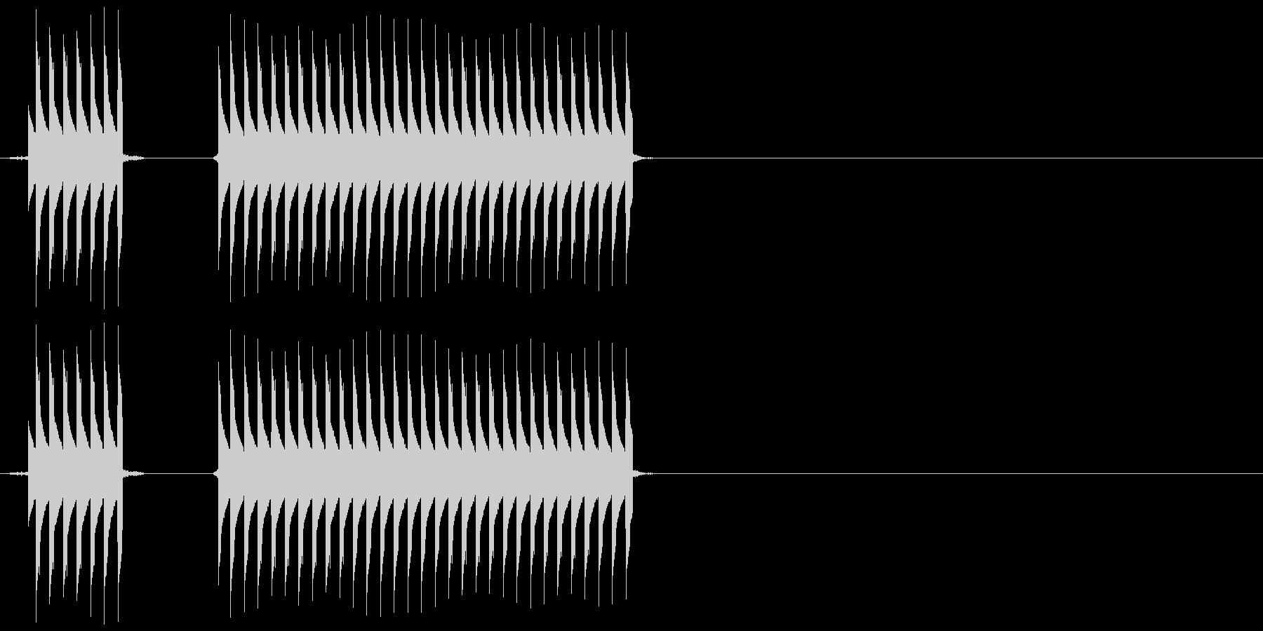 【SE】不正解02(ブブー)の未再生の波形