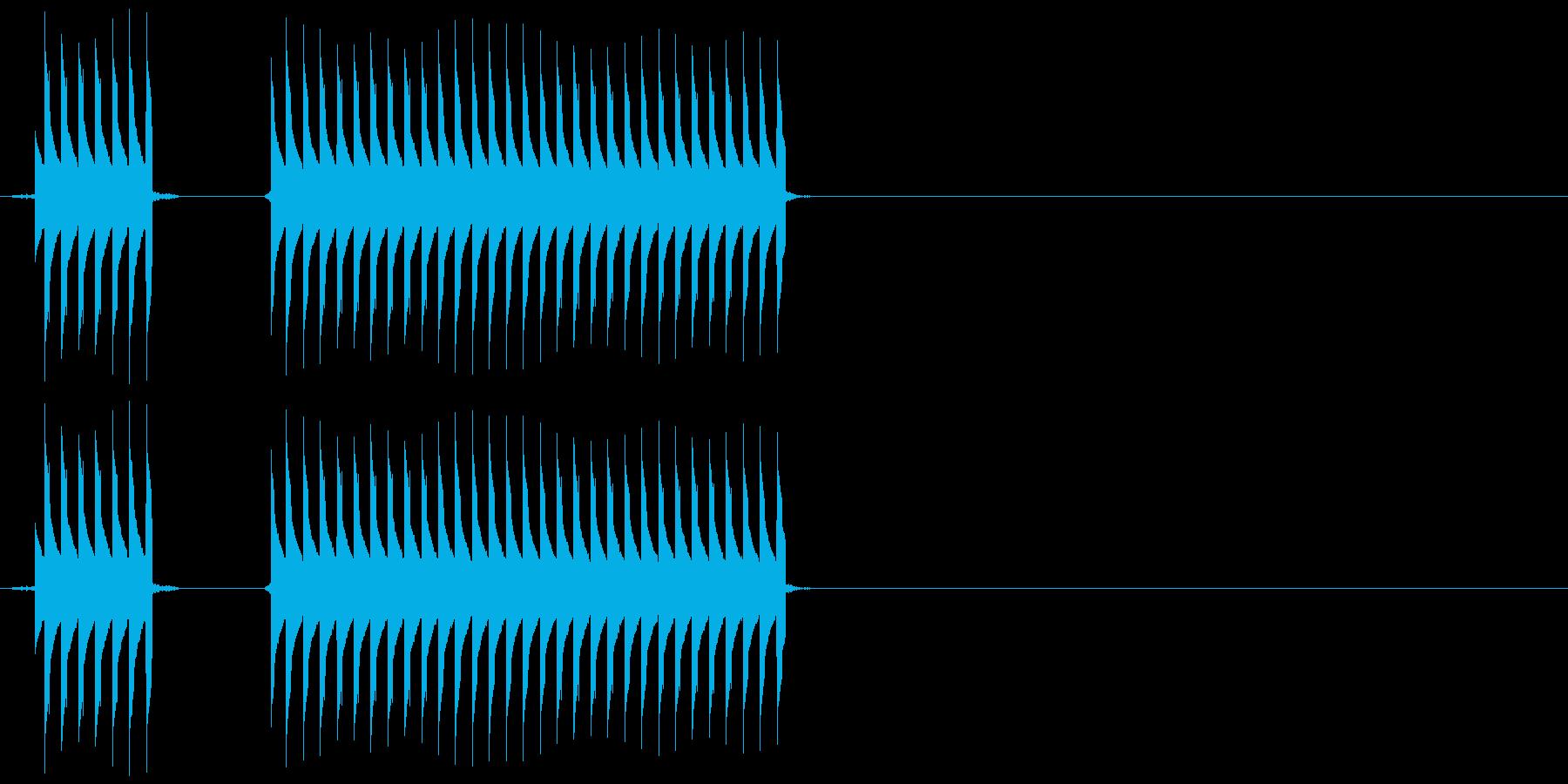 【SE】不正解02(ブブー)の再生済みの波形