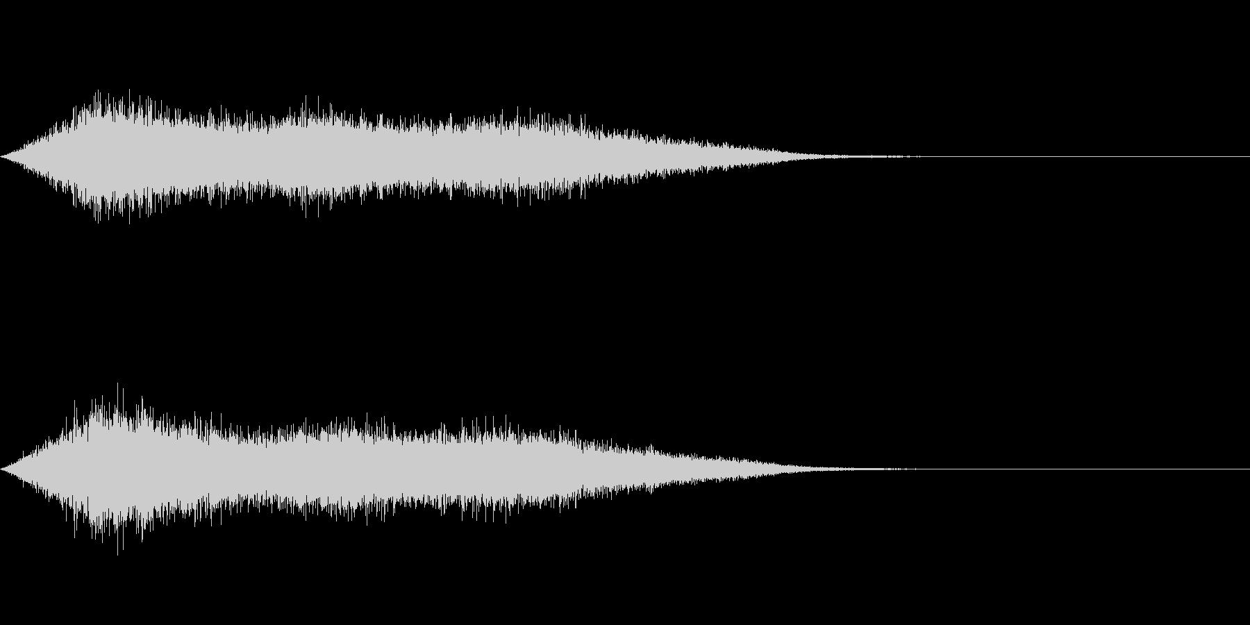 ワァーキャー!コンサートやライブの歓声1の未再生の波形