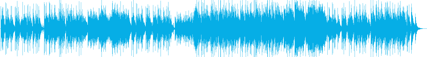 柔らかいリラクゼーションミュージックの再生済みの波形