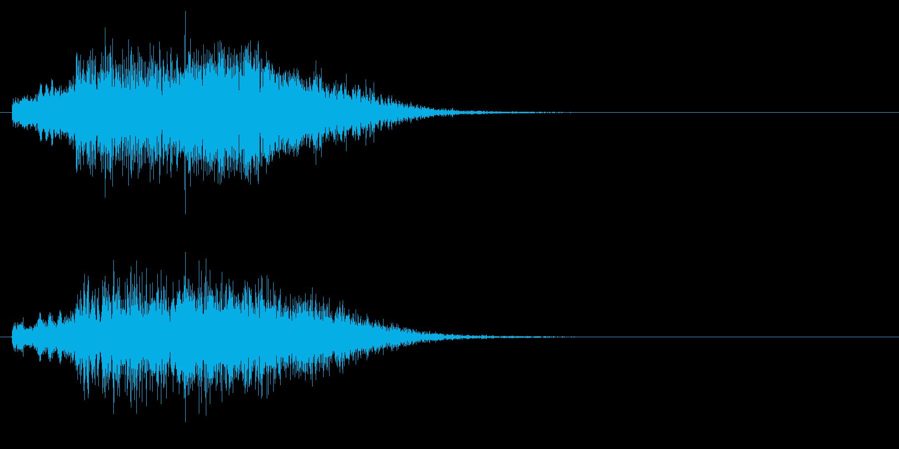 和風_琴系_予告音_02の再生済みの波形