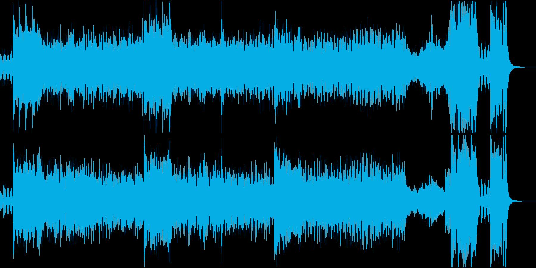 ワクワクしてくるサーカス団の曲の再生済みの波形