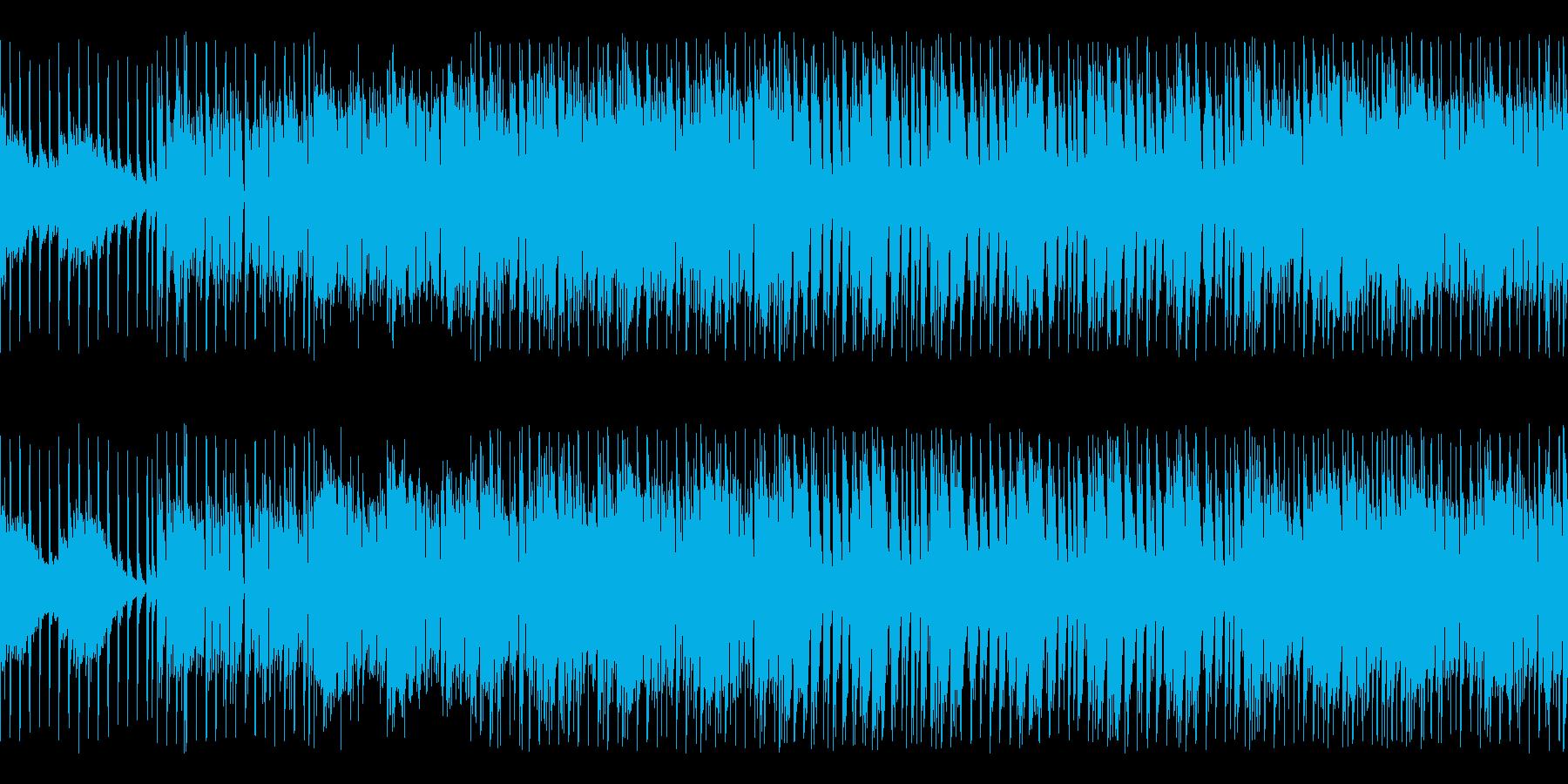 回転キラキラ明るいEDMなBGMループの再生済みの波形