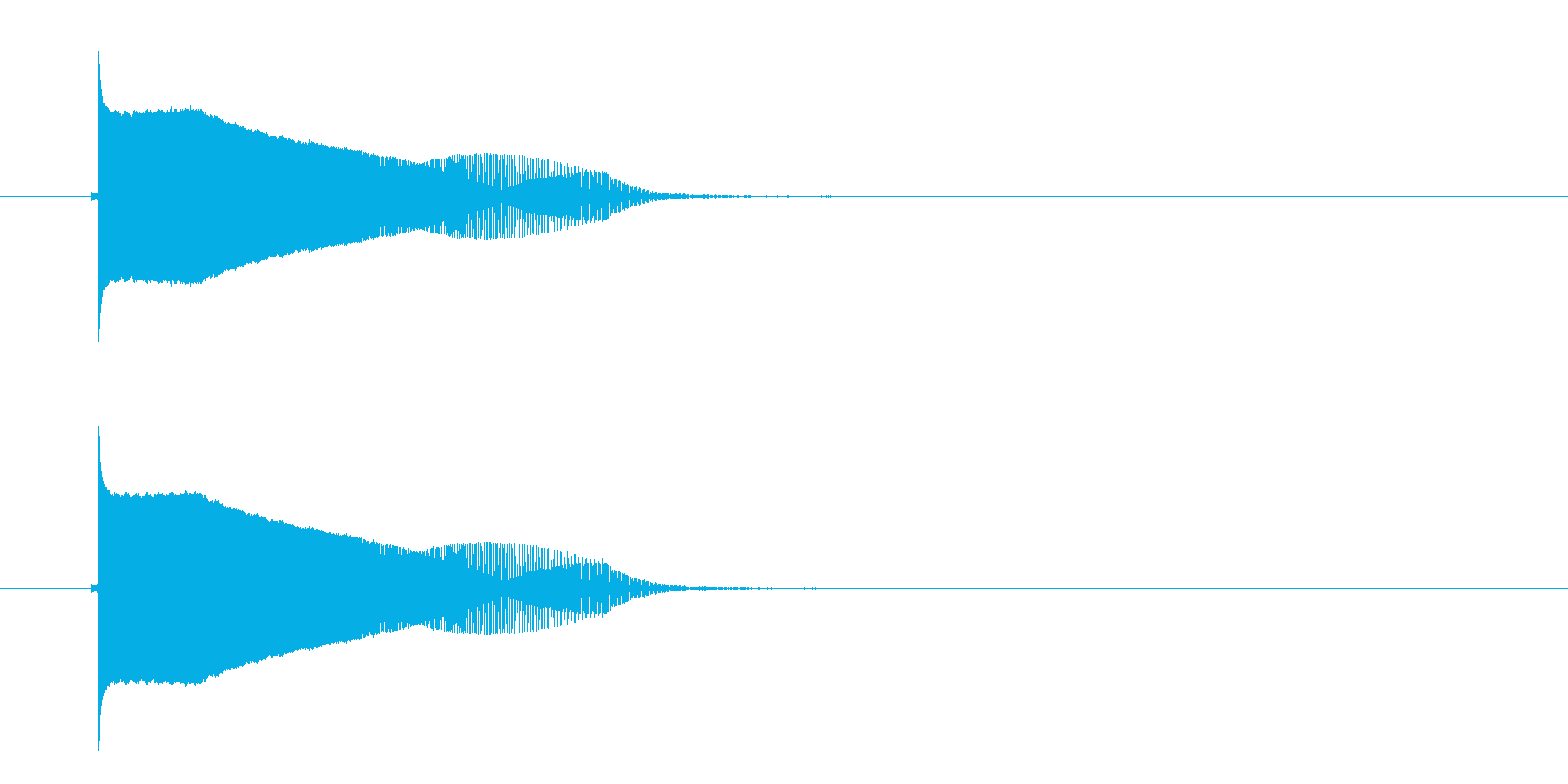 ポウーン(落下音)の再生済みの波形