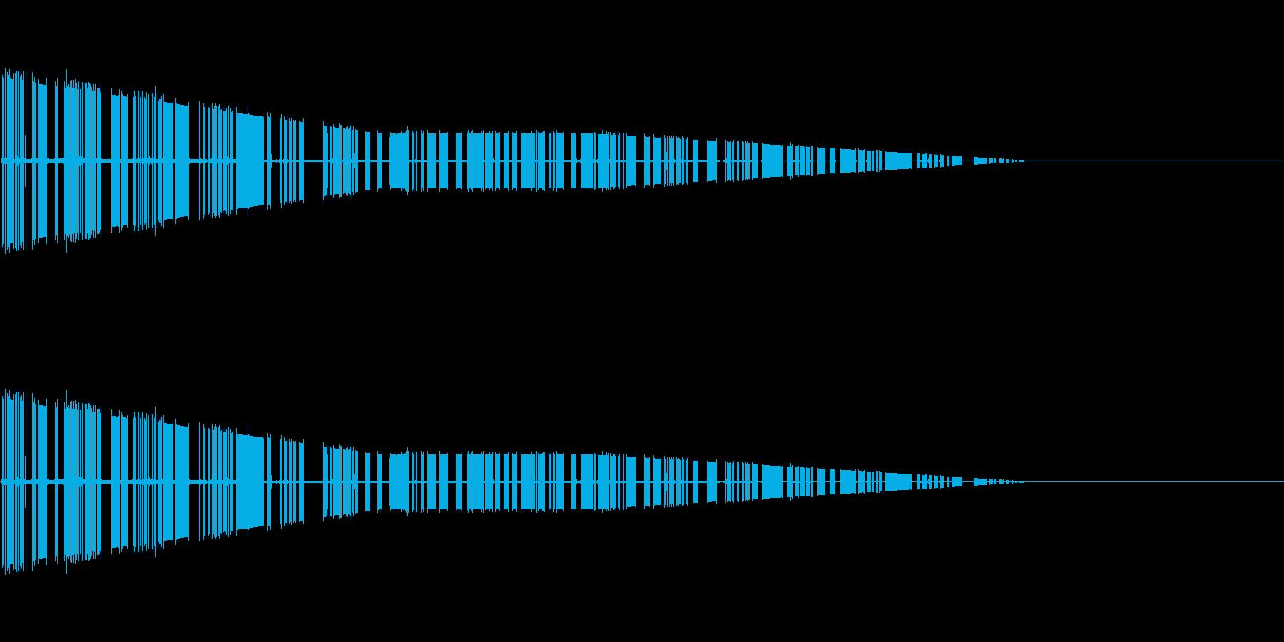 レトロゲーム風魔法・地属性・土系1の再生済みの波形