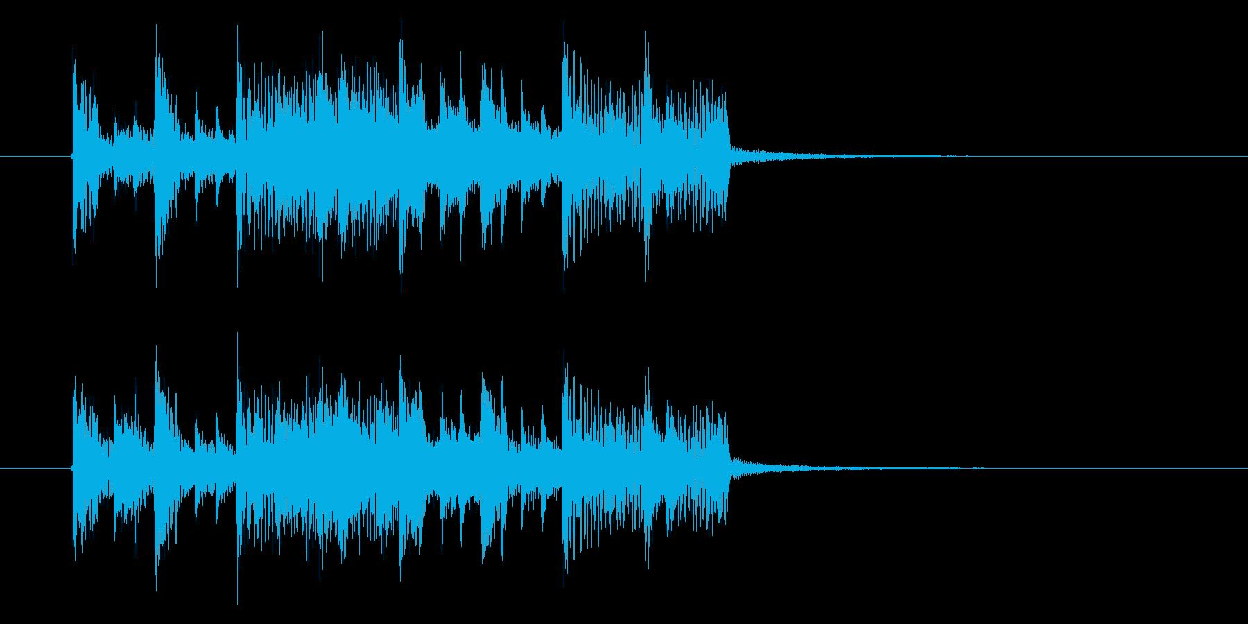 緩やかで軽快なテクノポップジングルの再生済みの波形