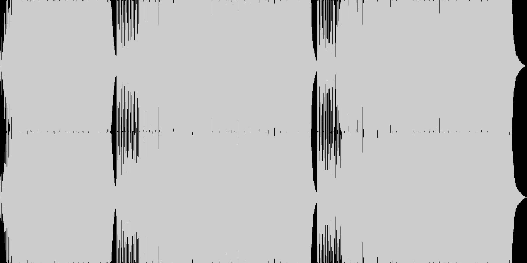 パリピになれる王道EDMの未再生の波形