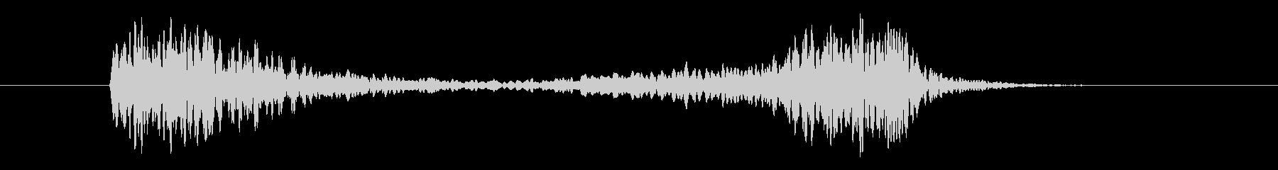 鉄道サウンド 車掌さんの笛の未再生の波形