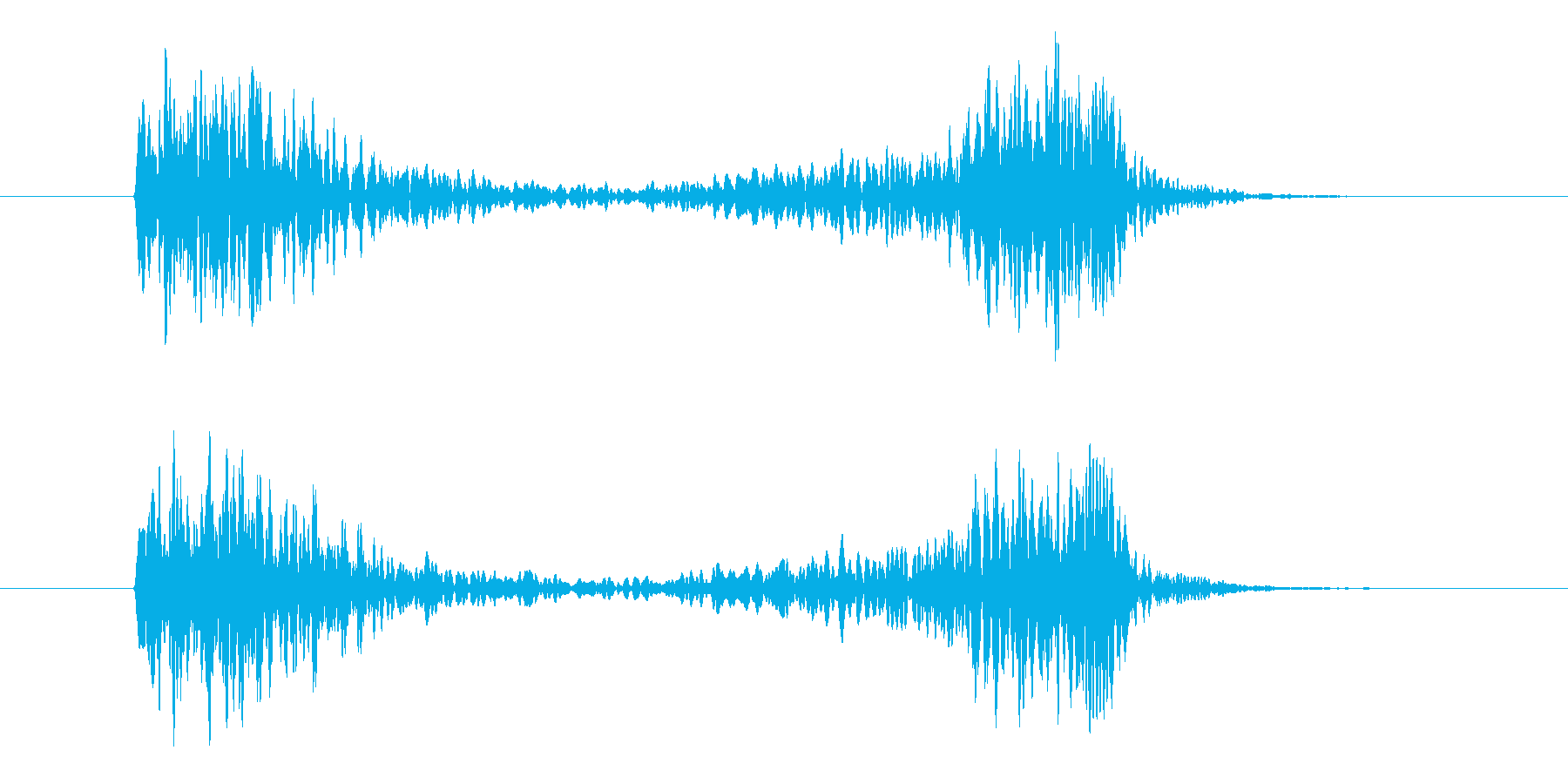 鉄道サウンド 車掌さんの笛の再生済みの波形