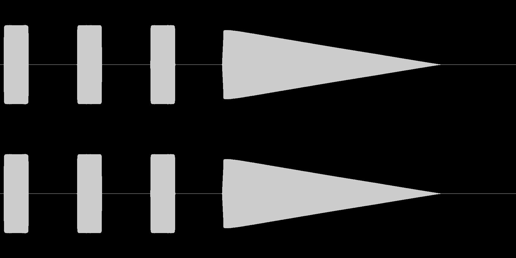 時報(ピ、ピ、ピ、ピー)の未再生の波形