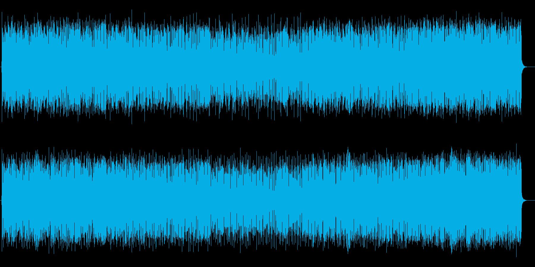 幻想的なシンセサイザーのバラードの再生済みの波形