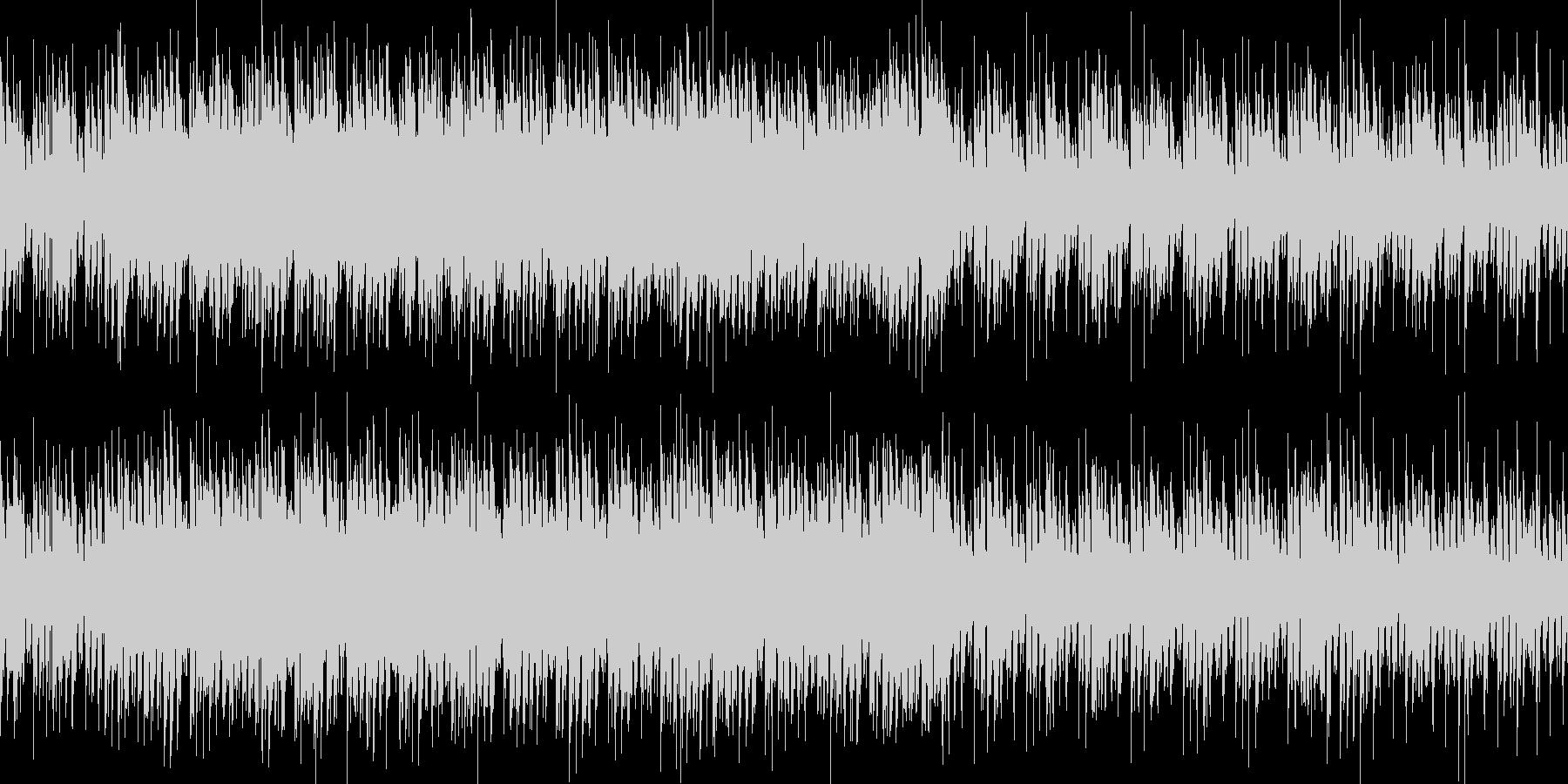 ジャングルの中にいるような不思議な曲の未再生の波形
