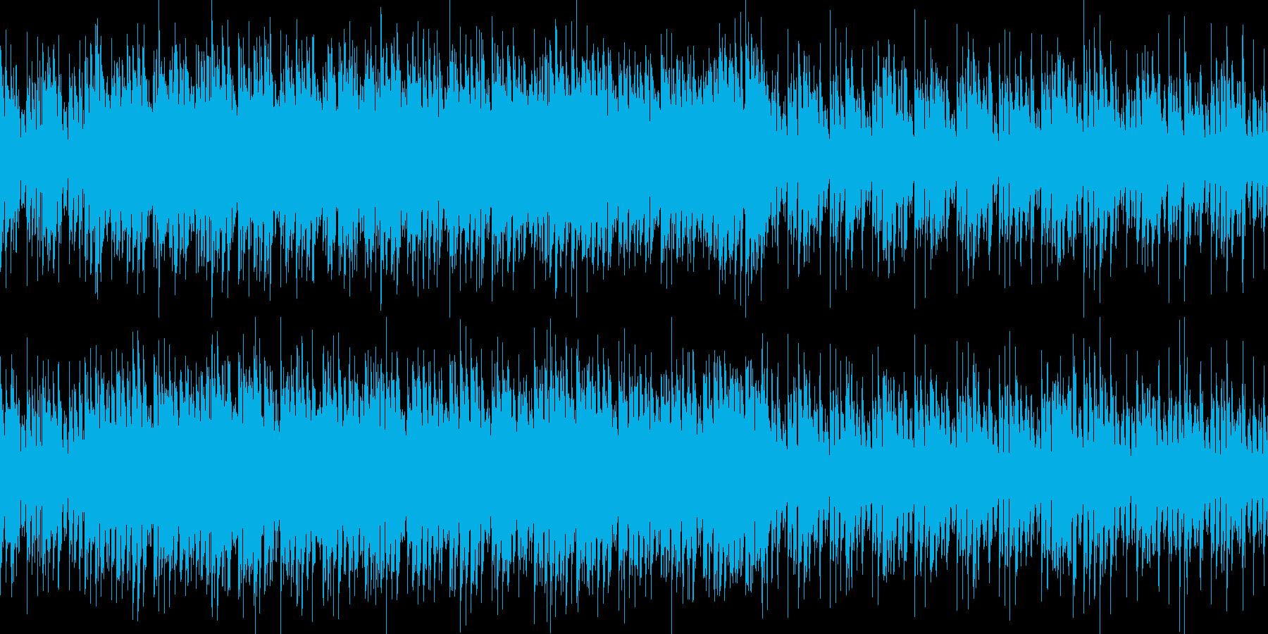 ジャングルの中にいるような不思議な曲の再生済みの波形