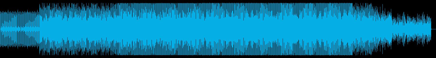 ポジティブなEDM風BGMですの再生済みの波形