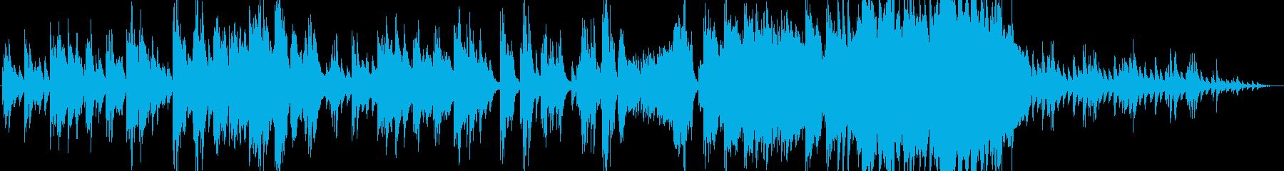 哀しげなピアノサウンドの再生済みの波形