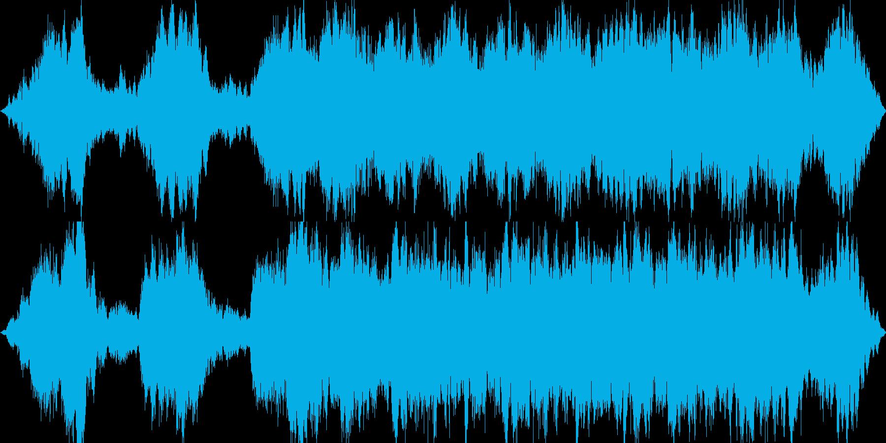 ホラー系のアンビエントBGMの再生済みの波形