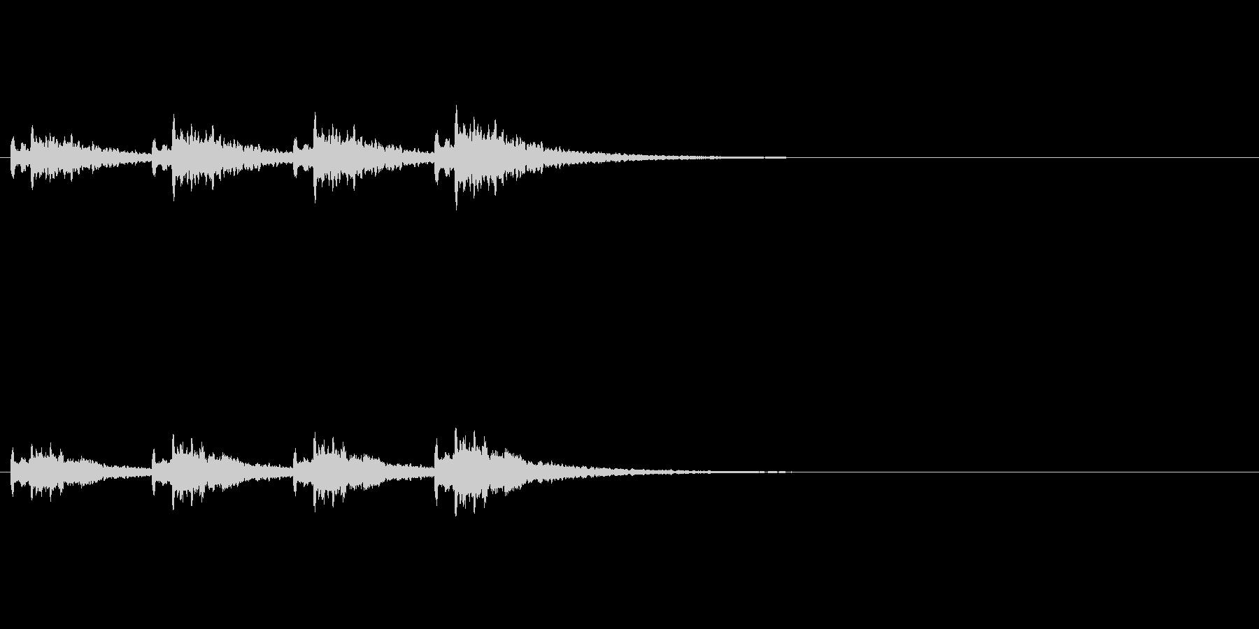 アラーム・お知らせ効果音の未再生の波形